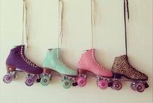 Skate roller 2 lines