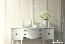 Gentle Whites / Never underestimate the power of pristine. White can be art gallery modern, country house classic or spring flower romantic. For a fresh perspective, try layering Benjamin Moore's Gentle Whites Collection - mix shades, mix finishes - everyone here gets along beautifully. / by Benjamin Moore