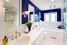 Hall/Guest/Kid's bathrooms / by Kirsten Reilly