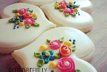 Flores y galletas