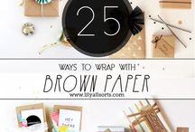 Brown paper packing / wrapping