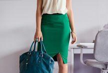wardrobe accent: green