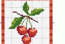 Ponto cruz - frutas