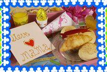 Moederdag / Welke moeder wil op Moederdag nou geen heerlijk ontbijt op bed? En welke moeder ziet daar niet graag een paar zelfgemaakte knutsels op staan?