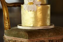 Wedding Cakes with Gold