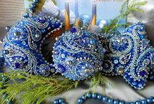 Beaded Christmas and ornaments