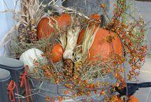 Autumn halloween deco