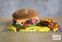 Burger 3d cake