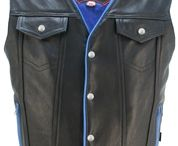 Motorcycle Leather Vests / Motorcycle Leather Vests made from Cowhide Leather and Front Quarter Genuine Horsehide Leather with features including Perma Core Thread by A&E for strong Stitching, and Made in USA.