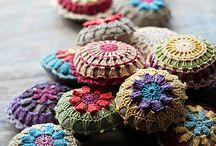 almofadinhas de crochet