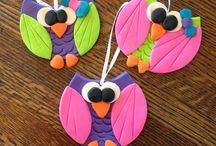 B Figurines - Owls