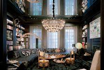 Private libraries / Books in books: lavish private libraries in Monacelli Press interior design.