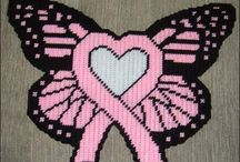 butterfly and pink ribbon