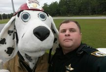 """Fire Prevention Week / Here are some """"dog""""gone good shots of Walton County Fire Rescue giving Mossy Head Schools Pre-K and kindergarten students an excellent presentation on fire saftey. Remember is it Fire Prevention Week!"""