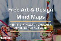 Art & Design Mind Maps / Check out some of our favourite mind maps from the Art & Design Mind Map Library on Biggerplate. To see the full library, click here: http://www.biggerplate.com/education-mindmaps/29/art-and-design