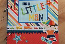 Echo Park - Little Man Mini Album / This adorable mini album was made by us using Echo Park Paper's 'Little Man' collection!