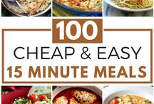 15 Minute Dinners & Meals / Quick and easy dinner recipes that take less than 15 minutes to make!