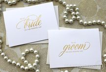 Gold Wedding Inspiration / What could be greater than gold? Be inspired here by all things gold for your wedding. We are by our authentic, gold foil-pressed cards!