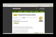 password recovery / How to recover lost password