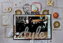 For Laurie - Contemporary / This type is another favorite of mine. I find it so easy to do because it's so popular that you can find SO many ideas and inspiration out there to get you going. This includes anything popular or any fads out there. Some things that set this style apart: geometric designs (chevrons, circles, rectangles, hexagons, quatrefoil, arrows), overlays, ombre (see below), ampersands, sunbursts, mixing of patterned paper and patterns in general, crisp lines. There is a title on every page.