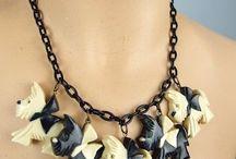 Bakelite, Celluloid, Vintage Jewelry / by Kena Faulk