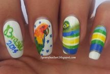 Awesome Nail Art Designs for the 2014 World Cup
