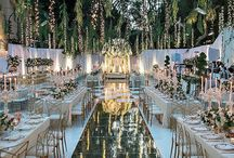 Wedding 2020 / Wedding Planner Board Wedding reception and ceremony ideas -Dance Floor over pool -Clear Tent -Cigar Rolling Station -LA Initials on Ice Sculpture