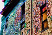 Mosaics and glass