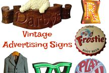 Vintage Advertising / Vintage & Antique Advertising for Signage - Biscuit Tins - Medicine Bottles - Coca-Cola - Beechnut - Hanging Signs - Cosmetics - Candy Tins -Sign Posts - Tobacco - Toys