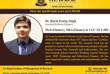 Meet the Intellectual Assets of GLBIMR-Harsh Pratap Singh