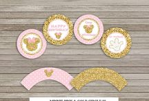 Cupcake toppers and Wraps
