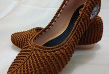 Обувь крючком и спицами