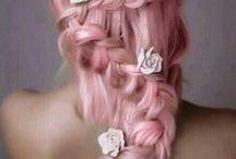 Rose Quartz & Serenity - Pantones of 2016 / Hair inspiration in Rose Quartz & Serenity hair colors.