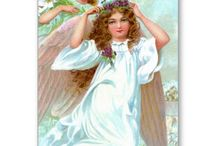Vintage Angel Christmas Cards