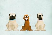 psy ilustracie