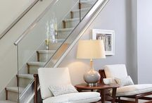 Living Rooms / Living spaces; sofas, lights, tables, sideboards, rugs, art. Retro decor
