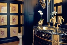 SoCal White House Powder Room / A couple of options for my powder in my bland white house!