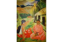 Painting inspired by Paul Gauguin