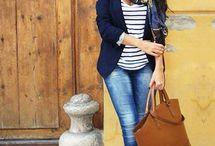 Fashion navy jacket