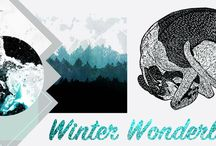 WINTER WONDERLAND / ITS GETTING COLD OUT THERE.. Think frosty forests and cute winter animals.  Winter Wonderland with us this year!