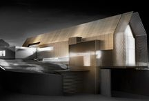 Re Alarico Winery / RE ALARICO winery Cosenza, ITALY - 2015 A contemporary winery, built in the business center of Carolei, where the production process is carried out in the underground area, while in the part above ground, characterized by the slender golden structure, there are conference room and tasting area.