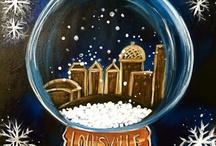 Canvas art - winter & Christmas