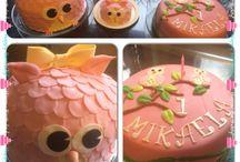 My designcakes / Her er et utvalg av kaker jeg har bakt