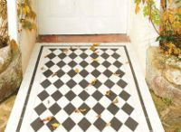 Victorian Floor Tiles - Diamond Patterns / The diamond patterns adapt the diamond and is made up by using just one diamond shape with the edgings cut accordingly. This pattern is perfect for a hall or path and can create the illusion that the path is longer than it actually is.