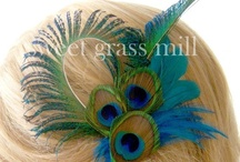 Stuff to put on your head. Mainly peacock feathers / by Amy Rogerswife
