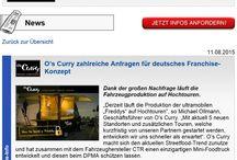 O's Franchise / Food Truck Franschise, UltraMobil, Systemgastrononie, System, Currywurst, Foodtruck, mobiler und fahrbarer Imbisswagen