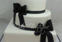 black  &white cake