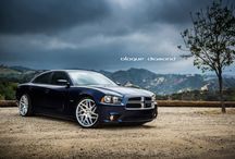 2013 Dodge Charger RT fitted with 22 inch BD-3's in silver / Go to www.blaquediamond.com to see our complete range