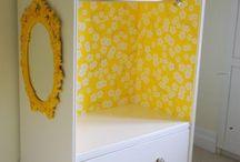 Dresser drawer repurpose upcycle