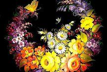 Тагильская роспись
